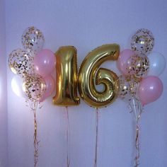 50 New ideas birthday party decorations sweet 16 cake pop Sweet 16 Party Decorations, Sweet 16 Centerpieces, 16th Birthday Decorations, Sweet 16 Themes, Balloon Decorations, Balloon Ideas, Sweet 16 Birthday Cake, Birthday Party For Teens, 16 Birthday Ideas