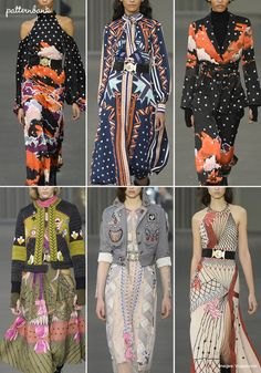 Patternbank brings you a concise overview of the most important print & pattern collections, from Fall 2018 RTW London Fashion Week shows. Peter Pilotto Images viaVogue Seventies Bohemia - Opulent Pattern - Dégradé Floral Plays - Moroccan & Persian References - Diverse Pattern Mixes -70s Vibes Richard