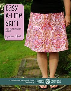 After you have completed this tutorial, you will have a custom-made pattern and a skirt sewn from it that fits your own particular curves. The paper pattern can be used over and over again to make as many skirts as your fabric stash allows.
