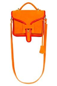 orange pink colorblock purse/slingbag