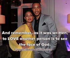 @traibyers To #love another person is to see the face of God. #empire #empirefox #empireseason2