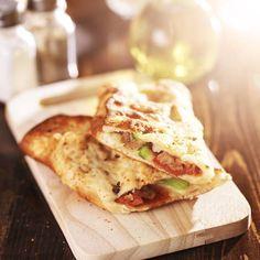 Folded pizza, a Sicilian speciality