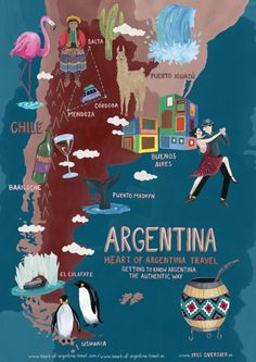 Getting to know Argentina the authentic way - Heart of Argentina Travel (thank you irisoversier.nl for the great illustration)