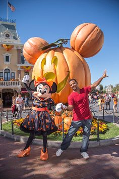 Actor Alfonso Ribeiro brought his family to Disneyland park in 2014 to experience a little Halloween Time magic!