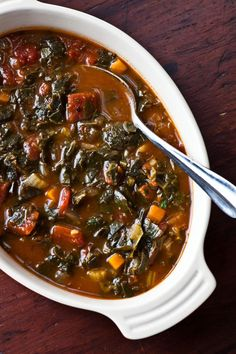 "Recipe for Creole Collard Soup and a review of the chef's recent cookbook, ""Cool Inside: Hank's Seafood Restaurant"""