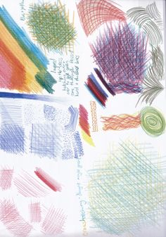 Coloured pencil mark making