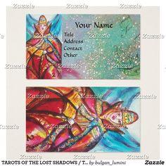 TAROTS OF THE LOST SHADOWS / THE HIGH PRIESTESS BUSINESS CARD #tarot #astrology #psychicreader #ritual #tarots #cartomante #fineart #watercolor