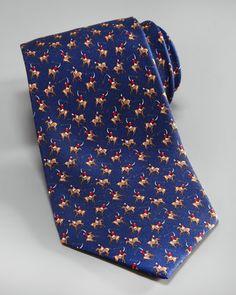 Salvatore Ferragamo Polo Tie, Navy - Bergdorf Goodman