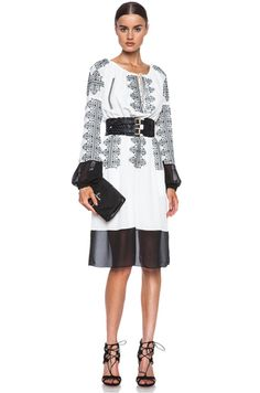 Altuzarra | Brigitte Silk Dress & Wide Braided Belt.