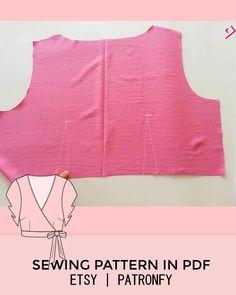 Baby Dress Patterns, Skirt Patterns Sewing, Blouse Patterns, Clothing Patterns, Blouse Sewing Pattern, Diy Clothes Design, Costura Fashion, Crop Top Pattern, Fashion Sewing