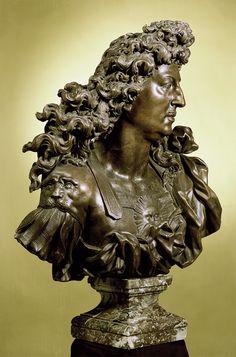 King Louis XIV (three-quarter view), by Jean-Louis Lemoyne. 1692.