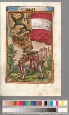 Colour Plate: German State Banners:  Archbishopric of Salzburg
