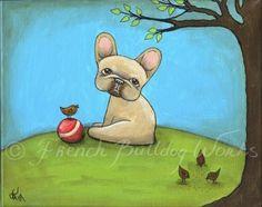 French Bulldog Bouledogue Francais Art Print from Original Painting