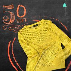 #SALE Countdown #Verano16  ¡50% OFF en nuestros sweaters de hilo, ideales para media estación!  - Sweater Hilo // SWBELL106  Te esperamos en nuestro local de Montevideo Shopping