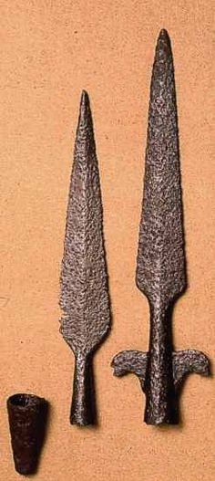 Early medieval Viking spears from Finland.