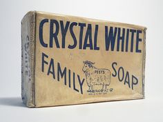 soap crystal white family soap packaging vintage