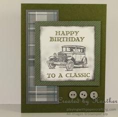 Playing with Papercrafting: Guy Greetings Birthday Card - Sneak Peek