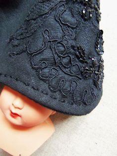 Bonnet vintage. ladamebiche.blogspot.com
