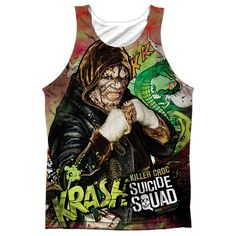 """Checkout our #LicensedGear products FREE SHIPPING + 10% OFF Coupon Code """"Official"""" Suicide Squad/croc Psychedelic Cartoon  Adult 100% Poly Tank Top T- Shirt - Suicide Squad/croc Psychedelic Cartoon  Adult 100% Poly Tank Top T- Shirt - Price: $24.99. Buy now at https://officiallylicensedgear.com/suicide-squad-croc-psychedelic-cartoon-adult-100-poly-tank-top-shirt-licensed"""
