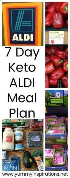 7 Day Keto ALDI Meal Plan - A week of meals and list of ideas for the Low Carb Ketogenic Diet making use of products youll find while grocery shopping at ALDI.