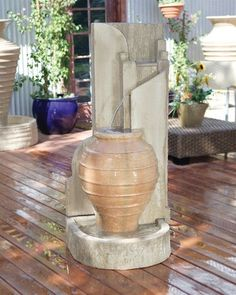 Honey Pot Garden Water Fountain