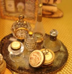 Miniature 1:12 Scale French style Perfume Vanity Tray