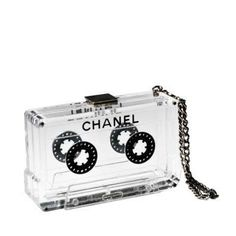 Chanel perspex cassette clutch.  (my DREAM bag)