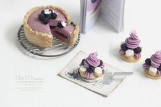 Violet Blackberry Saint-Honoré Pastry 1/12 by PetitDlicious