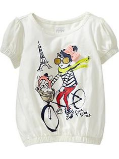Cinch-Waist Graphic Tees for Baby   Old Navy