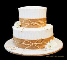 this rustic three tier naked wedding cake with flowers will wow you. this rustic three tier naked wedding cake with flowers will wow you wedding cakes, choosing a wedding cake may seem like one of th. Wedding Cake Rustic, Our Wedding, Silk Flowers, Colorful Flowers, Cheesecake Wedding Cake, Red Velvet Cheesecake, Engagement Cakes, Wedding Cakes With Flowers, Burlap Ribbon