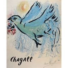 "Marc CHAGALL, Signed Lithograph, ""Chagall"""