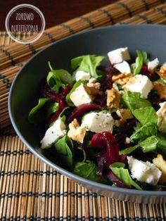 czyli o tym, że zdrowe jedzenie nie musi być nudne :): Sałatka z burakiem i orzechami włoskimi Veggie Recipes, Asian Recipes, Diet Recipes, Healthy Recipes, Healthy Salads, Healthy Cooking, Healthy Eating, Healthy Foods, Appetizer Salads