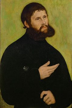 Martin Luther was condemned as a heretic by the pope and branded an outlaw by the Holy Roman emperor. In 1521, monk and Reformer Martin Luther grew his hair and beard long to disguise himself as an imperial knight.  Portrait by Lucas Cranach the Elder
