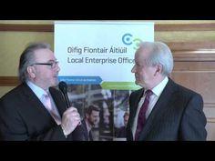Vincent Reynolds CEO Local Enterprise Office Cavan talks to Colm Colgan