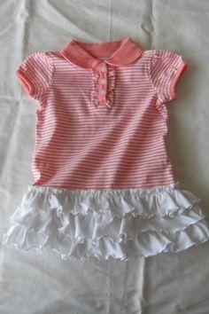 jurkje maken van shirtje door roezels eraan te naaien