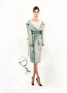 OlgaDvoryanskaya olga@pr-butik.com buro247 buro247ukraine Moscow fashion editor miroslava Duma trendsetter fashion illustration sketch