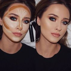 This is my Contour & Highlight Routine for when I wanna look SNATCHED 🔪 I use. - make up - Contouring Contouring Makeup, Contouring And Highlighting, Skin Makeup, Contour Makeup Products, Makeup Brushes, Blue Makeup, Eyebrow Makeup, Beauty Products, Beauty Skin