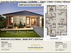 1200 sq foot house plan or 9 2 bedroom 2 bathroom house plan 111 sbh small & tiny house plans cheap small home plans. House Plans For Sale, Simple House Plans, Modern House Plans, Tiny House Plans, House Floor Plans, Home Design, Modern House Design, Plan Design, Plan Duplex