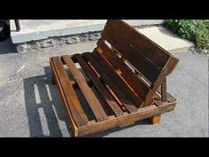 Wood Pallet Adirondack Chair | Pallet Chair Video Clip