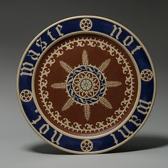 Bread Plate, by Augusts Welby Northmore Pugin, c. 1850.  Ceramics were used as decorative art during the Gothic Revival.
