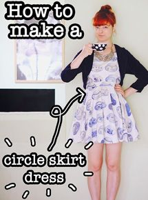 The Pineneedle Collective: DIY Circle Skirt Dress (Video Tutorial)