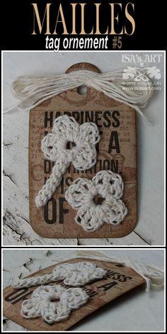 ISA'sART: MAILLES - Tags et crochet