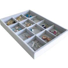 Medium Size Beautiful Jewelry Storage Drawer Organizer Velvet Premium Quality 12 Grids Stackable Tray for Home Store Jewelry Precious Stone Jewellery Storage, Jewelry Organization, Closet Renovation, Mobile Storage, Drawer Organisers, Storage Drawers, Fine Jewelry, Velvet, Composite Board