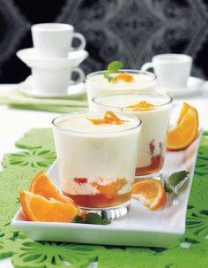 Appelsiini-jogurttipannacotta   Pääsiäinen   Pirkka Finnish Recipes, Italian Recipes, Easter Recipes, Dessert Recipes, Easter Food, Coffee Bread, German Desserts, Sweet Buns, Panna Cotta