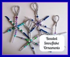 The Chocolate Muffin Tree: Beaded Snowflakes.....and Happy Winter Solstice!