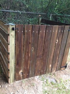 compost bin from old fence boards