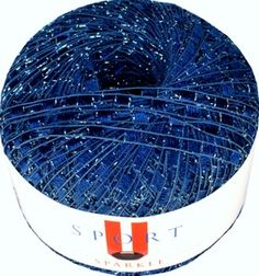 """Sport"" Brand Ladder Yarn. Use for your favorite team colors! CreativeFiberArts.com"