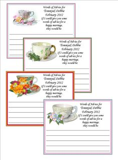 Personalized Tea Party Bridal Shower by lovelypapercreations, $7.80
