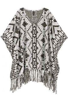 Mujer - H&M Poncho en punto de jacquard