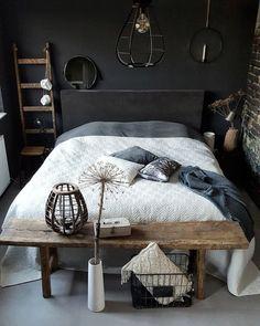 Elegantly Bold Dark Bedroom Ideas for Modern Home Furniture Layout, Bedroom Furniture, Bedroom Decor, Bedroom Storage, Bedroom Ideas, Furniture Placement, Warm Bedroom, Stylish Bedroom, Home Fashion